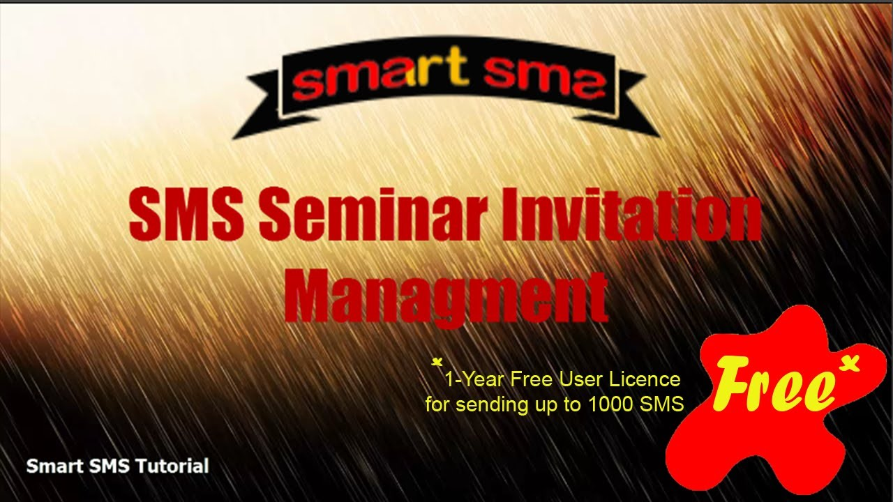 SMS Seminar Invitation Management - YouTube