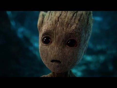 Baby Groot saying I am Groot