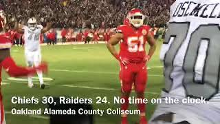 Watch the Raiders beat the Chiefs on the final play of the game