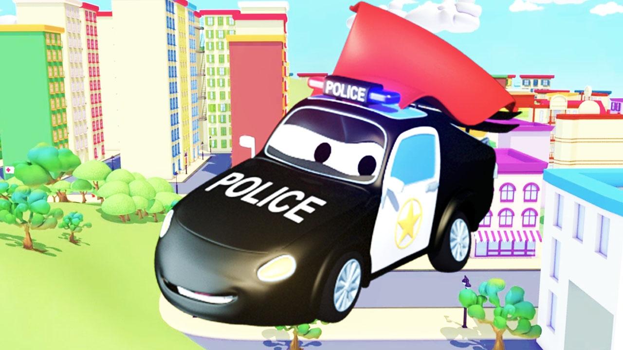 Best of de la super patrouille camion pompier et voiture de police car city dessins - Voiture police dessin anime ...