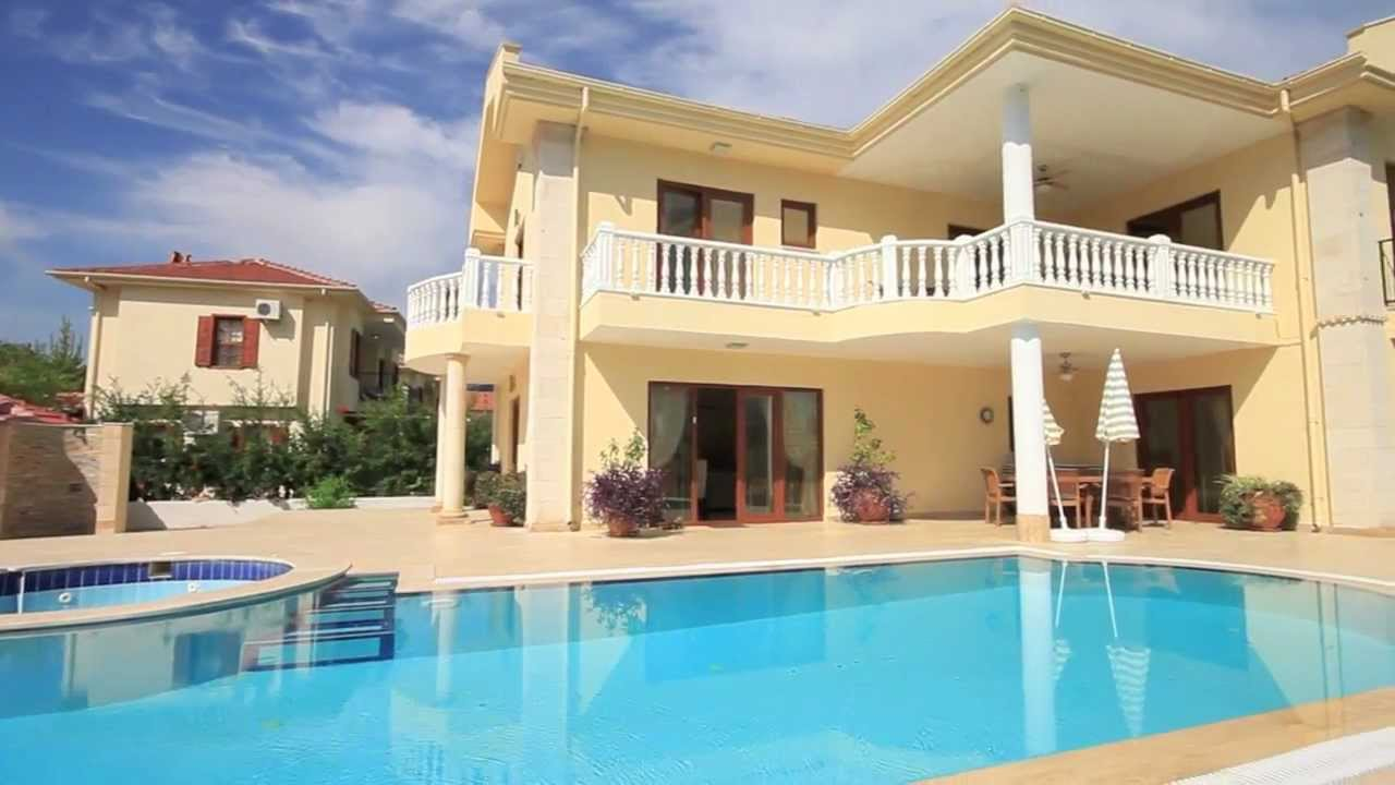 Villa metis dalyanda b y k havuzlu bah ede jakuzili kiral k l ks villa villasepeti com youtube