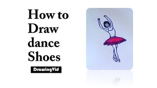 How to Draw dance Shoes
