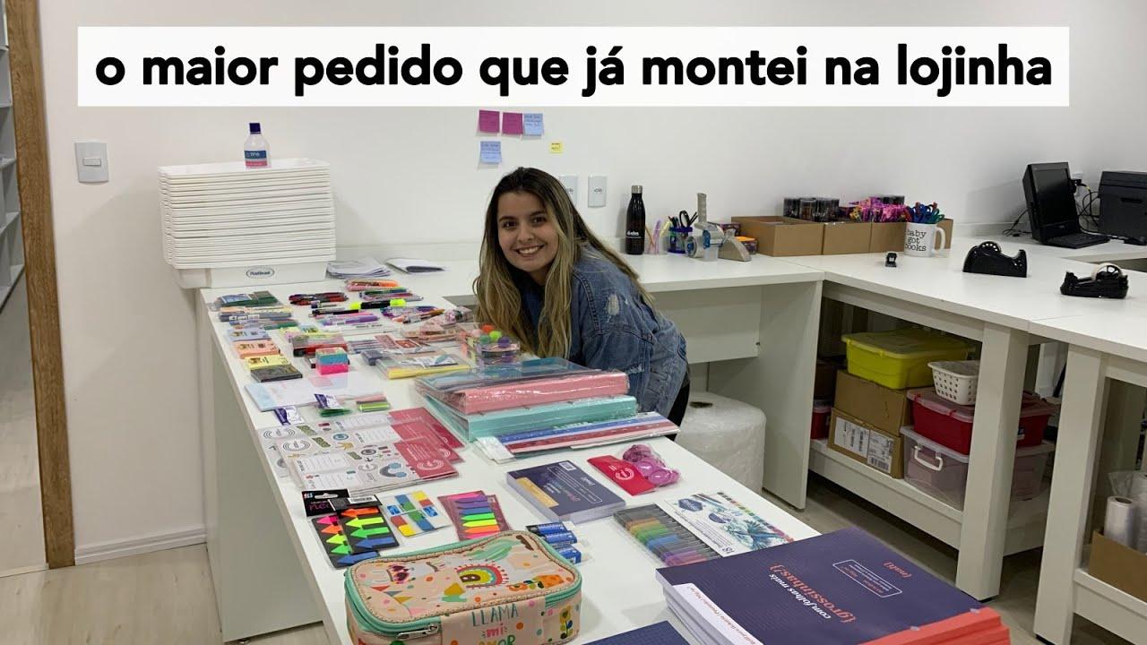 Lojinha da Lívia   O maior pedido já feito com mais de 100 itens de papelaria!
