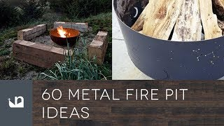 Gambar cover 60 Metal Fire Pit Ideas