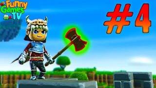 Мультик про Рыцарей Создаем огромный топор игра для детей похожая на Minecraft Portal Knights
