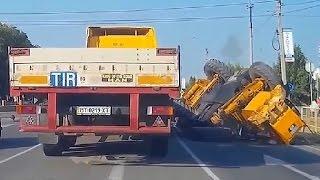 Внезапная разгрузка грузовиков #2  Тематические подборки дтп