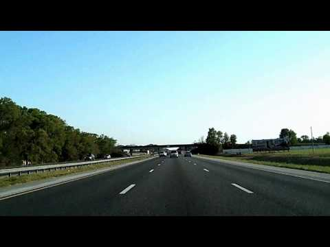 Interstate 75, 275 Through Florida: I-10 to Tampa Time Lapse Drive