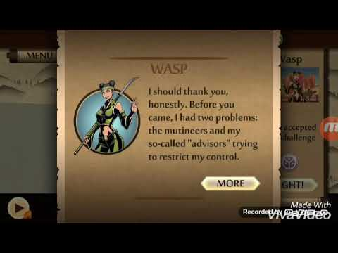 Guide to Defeat the pirate throne boss wasp in the easiest way in the Shadow Fight 2