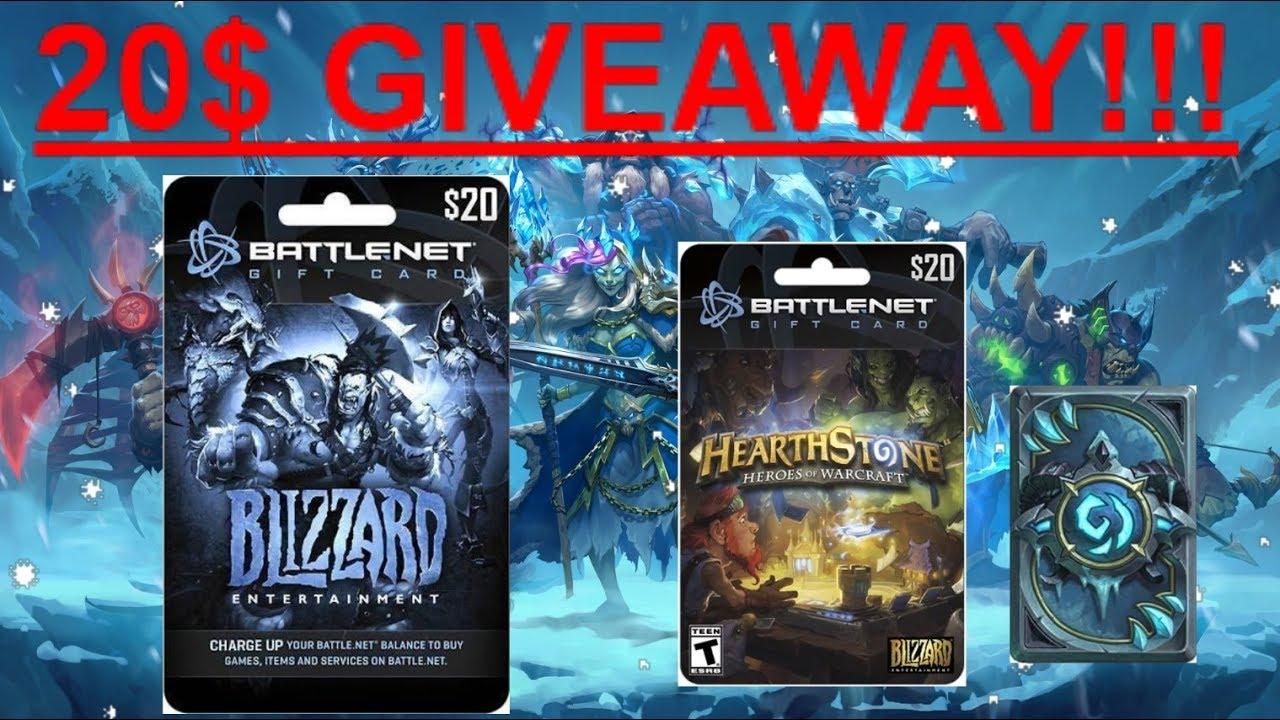 BATTLE.NET Blizzard Gift Card 20$ Giveaway! (8/27/2017-9/9/2017 ...
