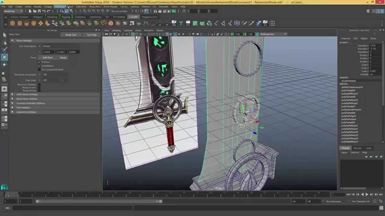 League of Legends Riven's Redeemed Blade Maya Speed Model