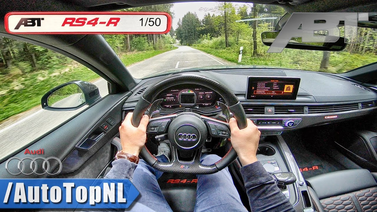 Audi Rs4 R Abt 29 V6 Biturbo Loud Pov Test Drive By Autotopnl