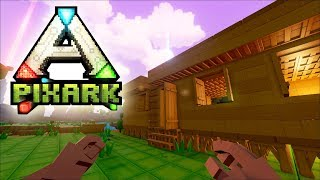 PixARK #04 | Dachausbau und Dodos schlachten | Gameplay German Deutsch thumbnail