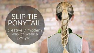 Slip Tie Ponytail   Creative Way to Wear a Ponytail