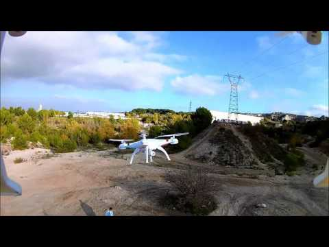 drone quadcopter spyrit max fpv vs terrain de cross de. Black Bedroom Furniture Sets. Home Design Ideas
