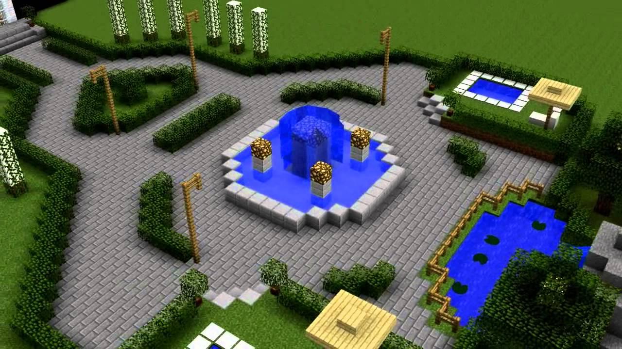 Ejemplo de jardn de un hotel  Rafael  Minecraft  YouTube