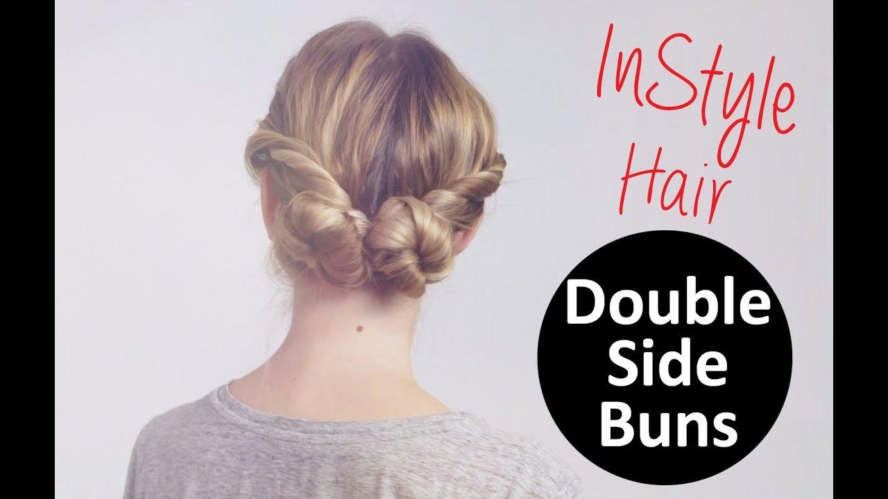 Frisuren Tutorial Double Side Buns Zwei Gewickelte Dutts