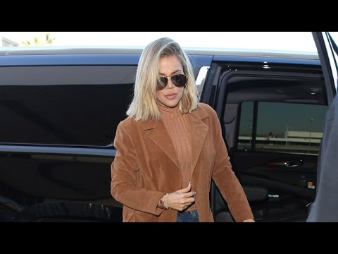 Khloe Kardashian Embraces Her Inner Blonde Jetting Out Of LAX