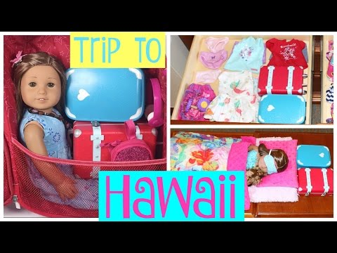 Packing American Girl for Hawaii