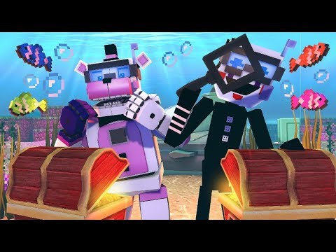 Funtime Freddy's Underwater Puzzle Adventure!- Minecraft FNAF Roleplay