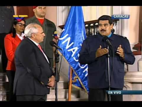 Presidente Nicolás Maduro con Ernesto Samper, Secretario General de Unasur