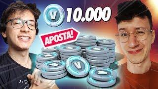 I BET 10,000 V-BUCKS WITH MY BROTHER! -FORTNITE
