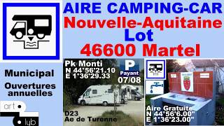 46 Aire Camping-car Martel Hello ! camping-car