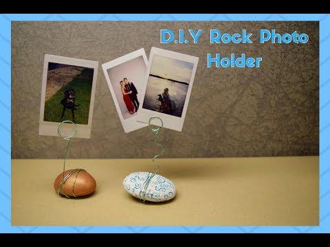 D.I.Y College Decor- Campus Crafts #7 Wire Rock Photo Holder