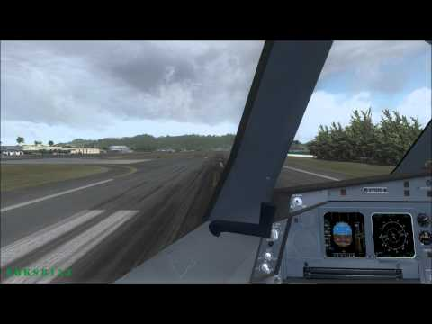 FSX HD 1080p - A330 Cockpit Take off ST. MAARTEN (TNCM) - i7 2600k, GTX 560