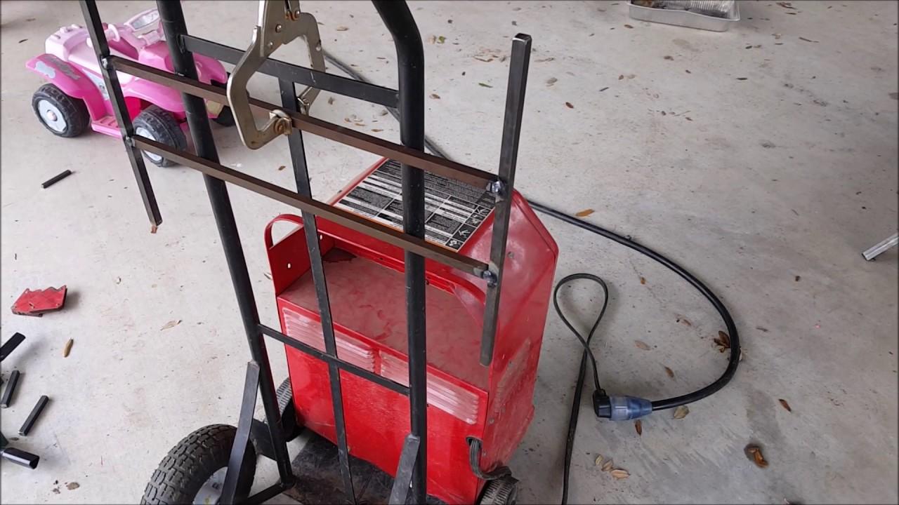 medium resolution of lincoln ac 225 arc welder project wire organizer hand truck