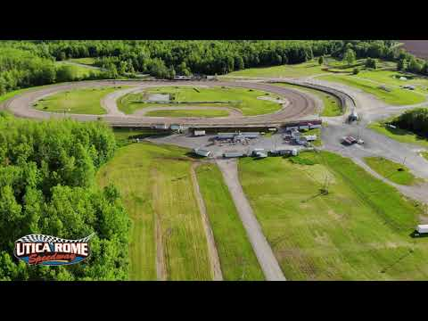 Utica Rome Speedway Drone Video 3