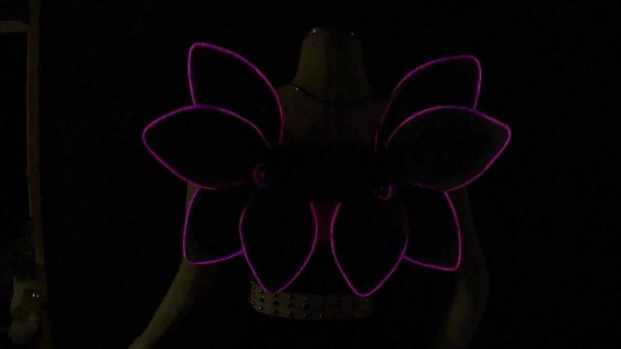 Light Up EL Wire Flower Fairy Wings - YouTube