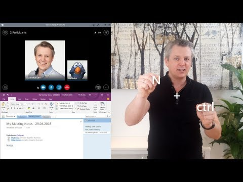 How to take notes with OneNote in a Skype for Business call