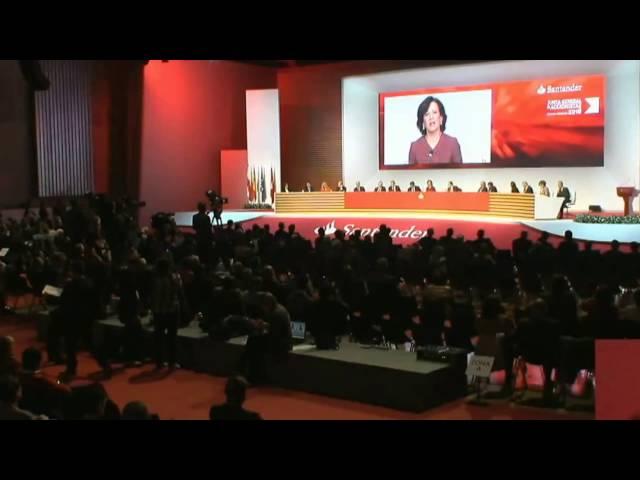 Respuesta Presidente B.Santander Dª Ana Patricia Botin a intervencion secc.sindical Altamira ccoo