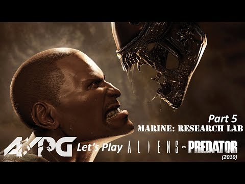 Let's Play Aliens Vs. Predator (2010) - Part 5 - Marine: Research Lab