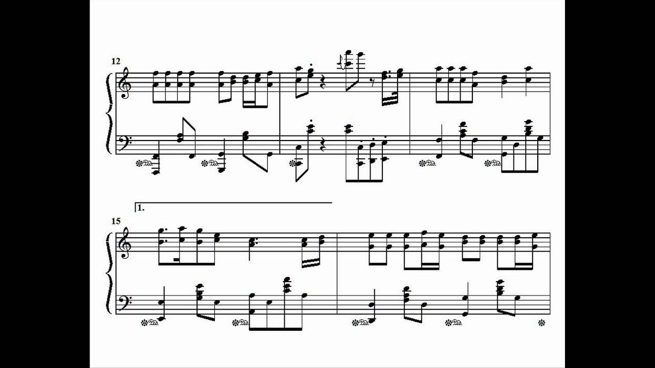 Hari kiyomi song cutie song piano arrangement sheet for Piano dance music 90 s