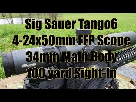 Sig Sauer Tango6 4 24x50mm FFP MOA 100 yard Sight In AR10 6mm Creedmoor