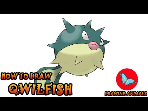 How To Draw Qwilfish Pokemon | Coloring And Drawing For Kids