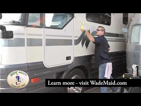 Waxing All Four RV Finishes With Wade Wax