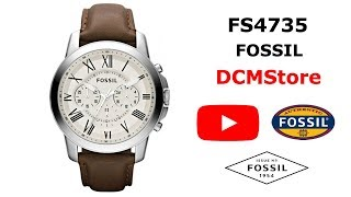 FS4735 Fossil Grant Brown Leather ...... DCMStore
