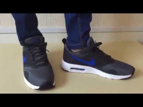 wholesale dealer eaf84 2e15d Nike Air Max Tavas Grey Royal Blue Unboxing + On feet - YouTube