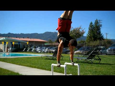 L-Sit to Handstand on Parallettes