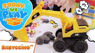 Babyccinoбыл Сьогодні Ми Граємо Епізод 5 - Будівельну Бригаду Пісочний Набір - Сюрприз Іграшки Розпакування