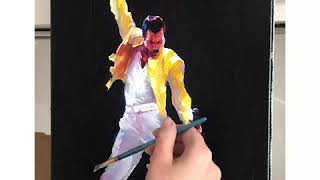 Freddie Mercury Portrait Painting