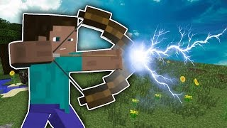 Minecraft OP BOWS MOD  / TONS OF NEW BOWS & ARROWS  !! Minecraft