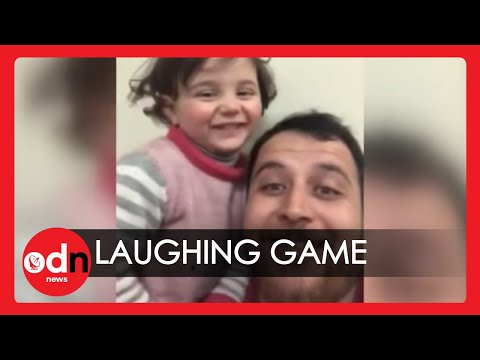 'Heroic' Syrian Father Teaches Daughter to Cope with Bombs through Laughter