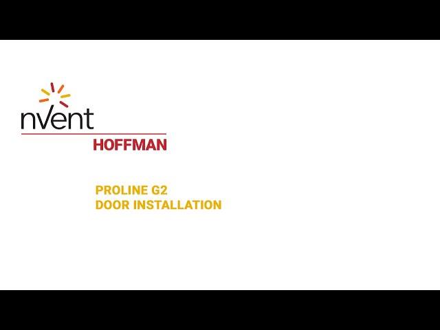 ProLine G2 Installation Video – Door | nVent HOFFMAN