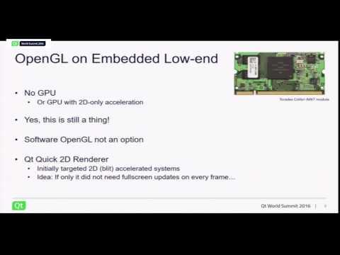 QtWS16- Qt Quick Scene Graph Advancements in Qt 5.8 and Beyond, Laszlo Agocs, The Qt Company