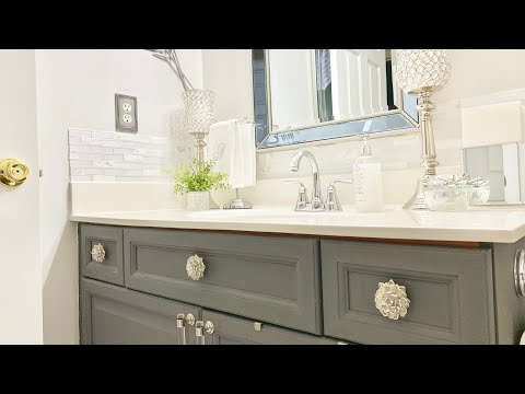 BATHROOM COUNTERTOP DECORATING IDEAS|BATHROOM DECORATE WITH ME