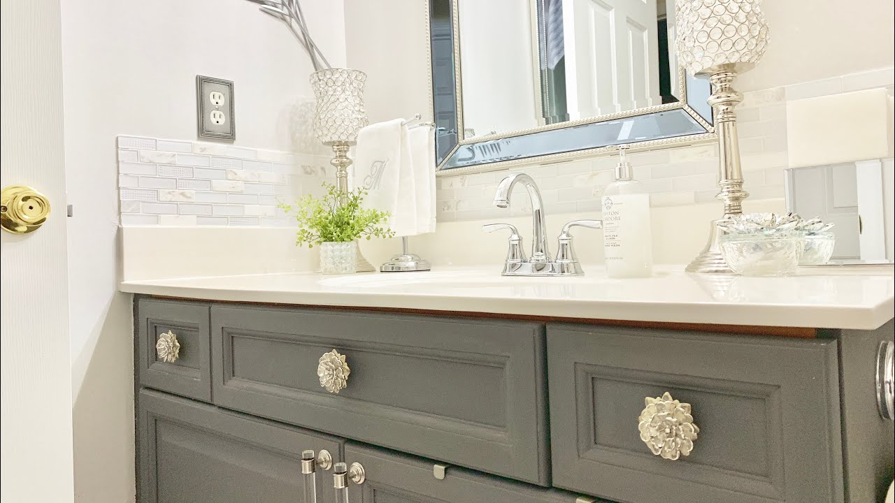 BATHROOM COUNTERTOP DECORATING IDEAS|BATHROOM DECORATE ... on Counter Top Decor  id=15371