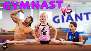 GIANT Bodybuilder Tries Gymnastics
